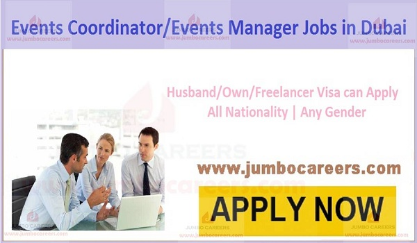 Events Coordinator/ Manager Jobs in Dubai