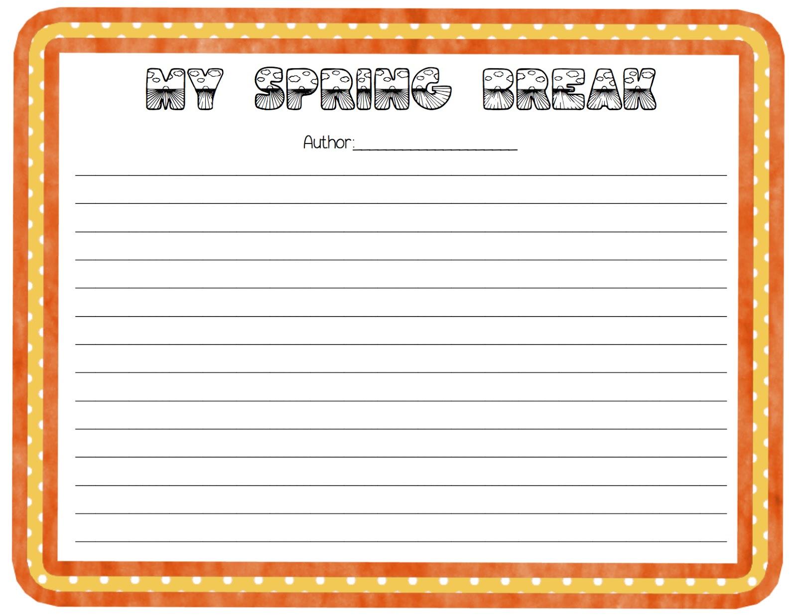 Spring Break Writing Project Crafty Freebie