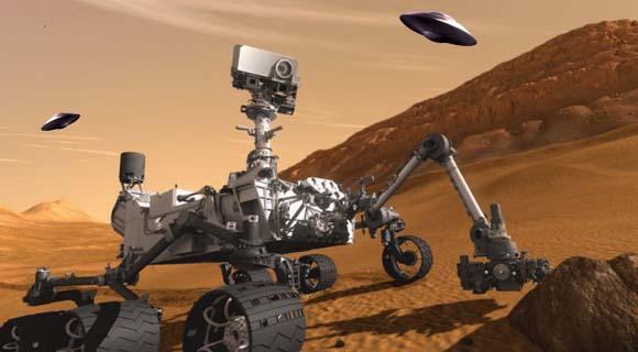 Curiosity aterrizo en Marte: ¿Están los marcianos observando el progreso del Rover?