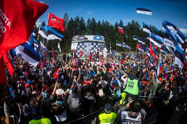 World Rally Drivers on the winners podium