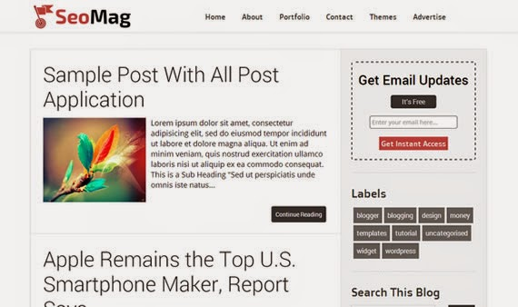free responsive blogger template