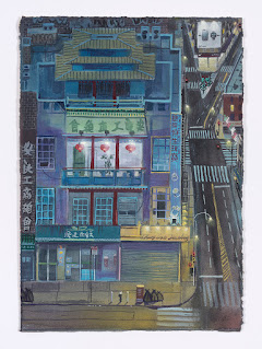 Chinese Bakery, 25x35cm, gouache on paper, 2020