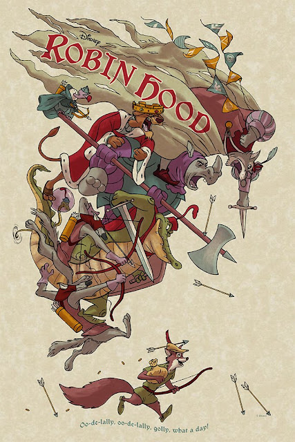 MondoCon 2019 Exclusive Disney's Robin Hood Screen Print by Jonathan Burton x Mondo