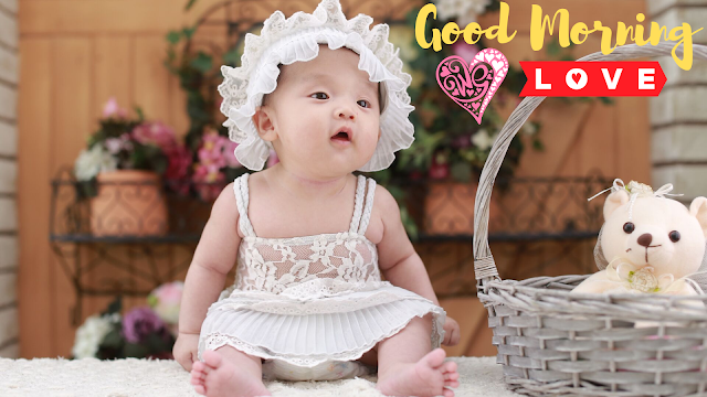 Good Morning Images with Cute Baby girl