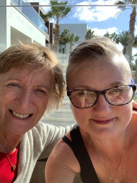 madmumof7 and her mum in Paphos, Cyprus