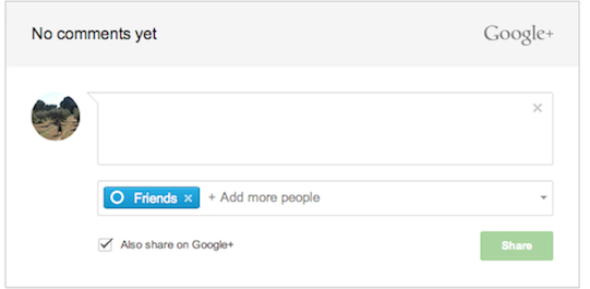 Google+ Commenting System