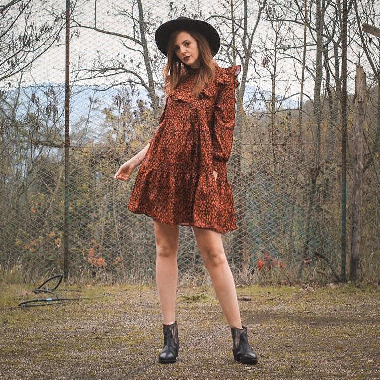 vestito leopardato shein