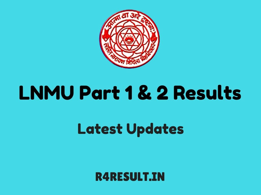 LNMU Part 1 and 2 Results 2017