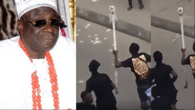 Stolen Oba Of Lagos staff returned mysteriously hours after deadline