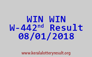 WIN WIN Lottery W 442 Results 8-1-2018