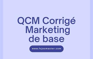 QCM Corrigé Marketing de base