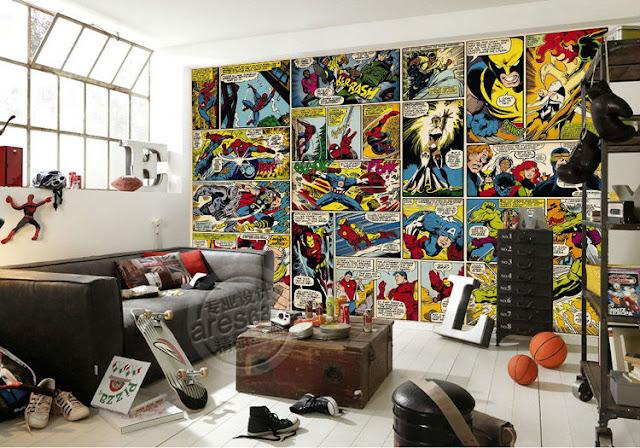 Marvel tapet X-men wolverine fototapet serie comics ungdomrum killtapet fondtapet barnrum
