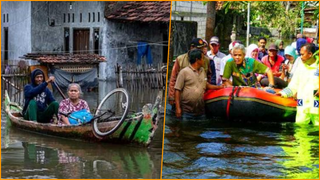 Sudah Hampir Sebulan Banjir Kudus Jateng Tak Juga Kelar, Den Ganjar Apa Kabar?