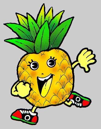 Pineapple Fruit Cartoon Free Clipart   Free Microsoft Clipart