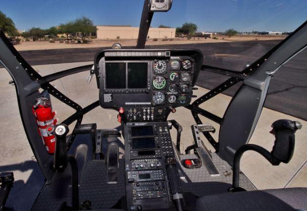 MD 530F cockpit