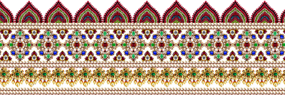 Jwellery made textile saree border design 601
