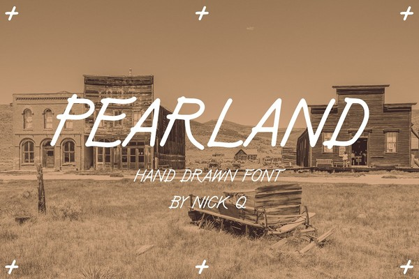Pearland Hand Drawn Font