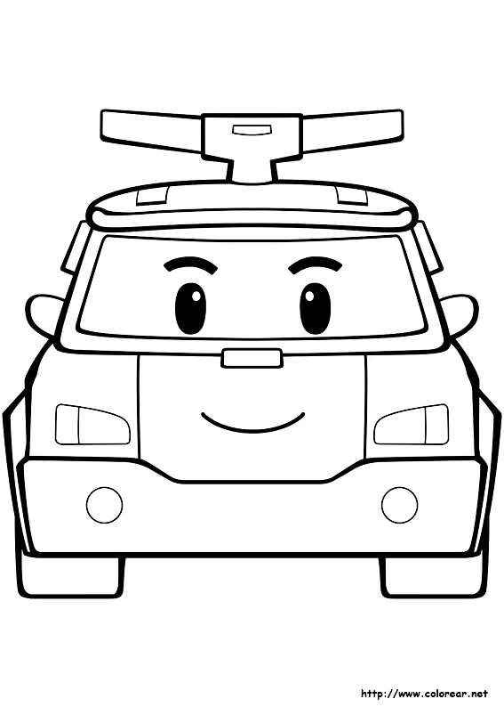Rabia sensei free printable cartoon characters colouring for Robocar poli coloring pages