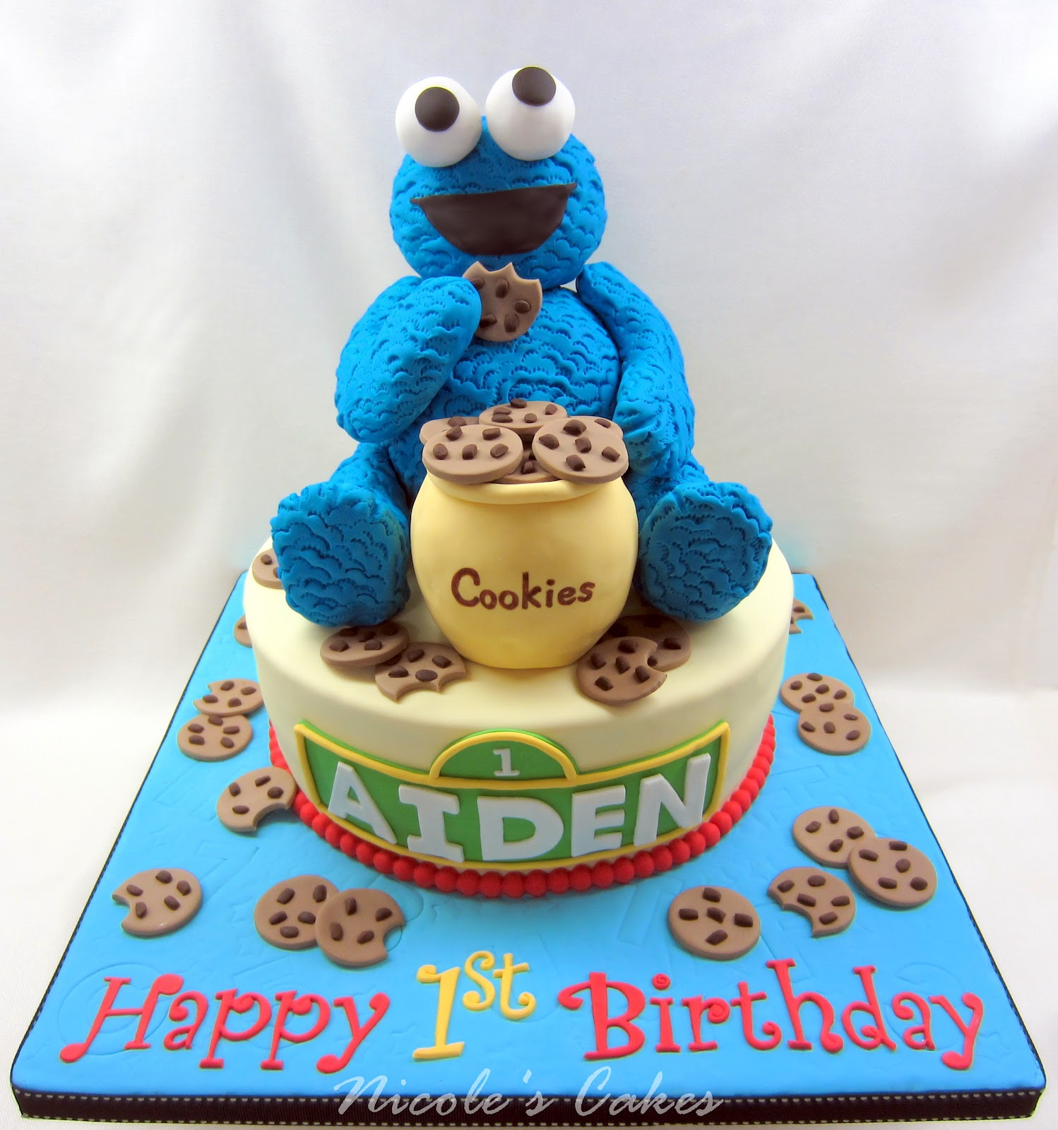 Confections Cakes Amp Creations The Cookie Monster A 1st