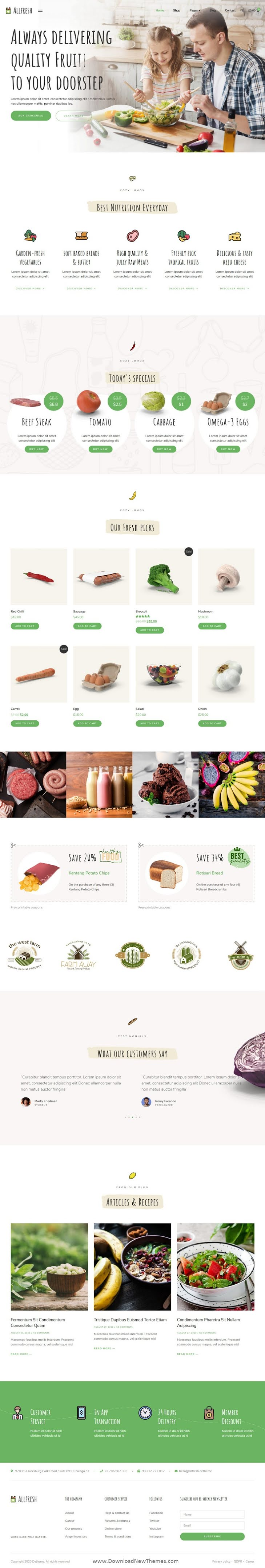 Grocery Store Template Kit
