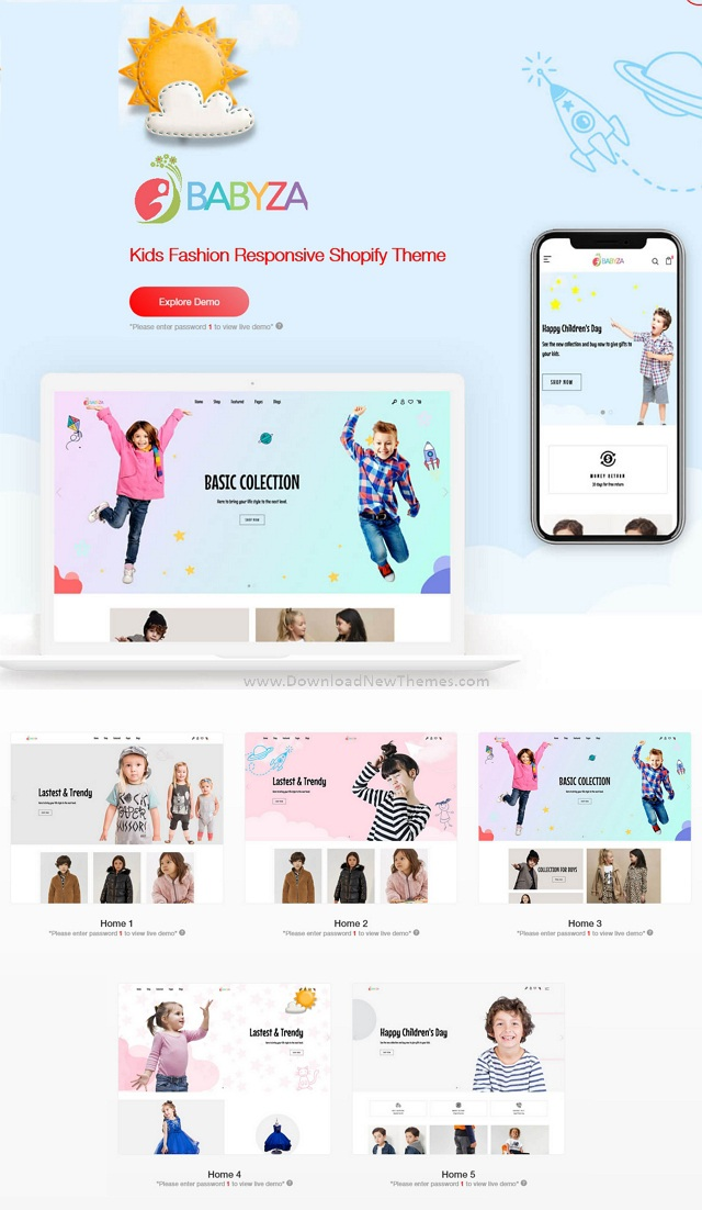 Kids Fashion Responsive Shopify Theme