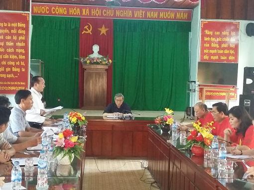 Lãnh đạo tỉnh làm việc với UBND huyện Lý Sơn