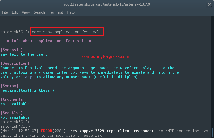 How to install and configure Festival for Asterisk use - Computing