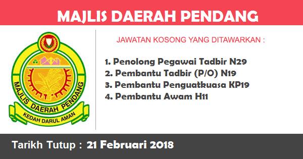 Jawatan Kosong di Majlis Daerah Pendang