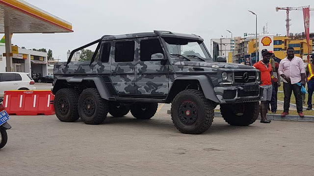 Ibrahim Mahama spotted in Mercedes-Benz G63 AMG 6×6, Cost $780, 000 or GH₵ 3,135,599