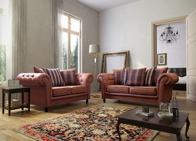 Woodland Sofas Suede Fabric sofa set