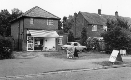 Photograph of Little Heath stores, Hawkshead Road (previously Pond's Stores). Now a private residence. c.1960.