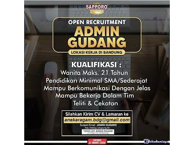 Lowongan Kerja Sebagai Admin Gudang Di Toko Cat Aneka Ragam Bandung