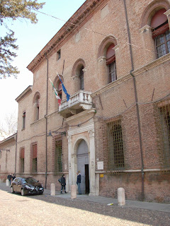Giulio's palace in the Via degli Angeli is now the headquarters of the Prefecture of Ferrara