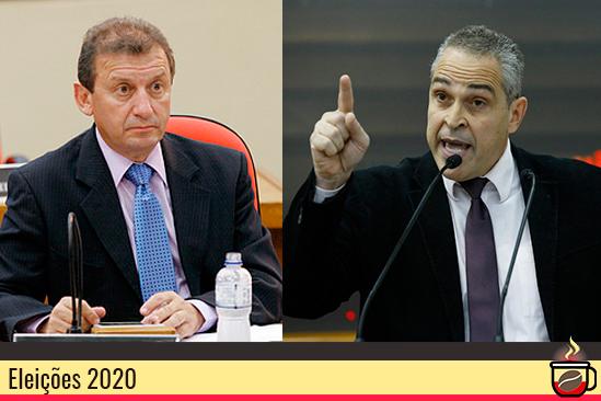 O ex-vereador John Alves e o vereador não reeleito Doutor Jamal. Café com Jornalista