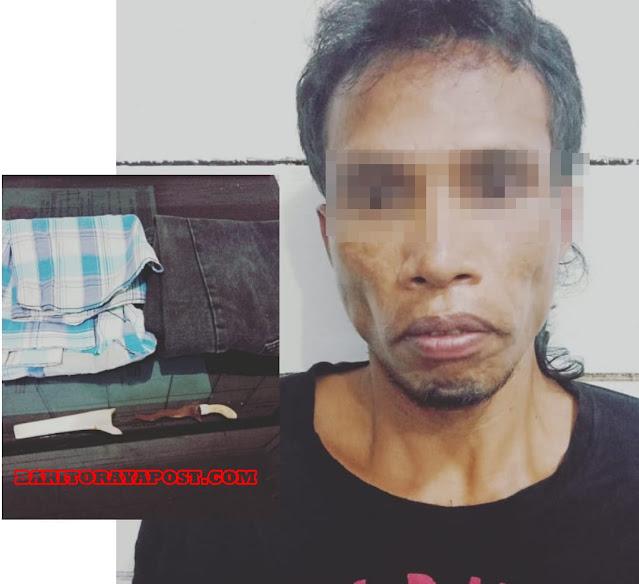 Pinjam Motor, Ditemukan Sajam, Akhirnya Pemuda warga Desa Pasangon di Bekuk Polisi