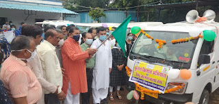 कुशल किसान अभियान और डेंगू जागरूकता को विधायक व सांसद ने हरी झंडी दिखाकर रवाना किया