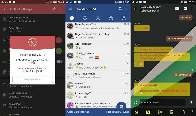Aplikasi BBM Mod Android Delta v 3.3.7.97 Release Terbaru