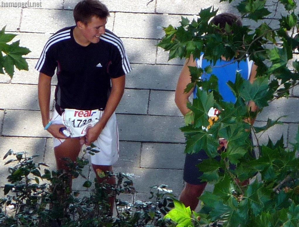 Candid voyeur incredible teen in shorts waiting so hot 5