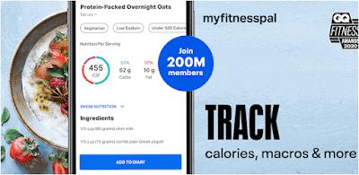 Aplikasi pengukur berat badan ideal - myfitnesspal