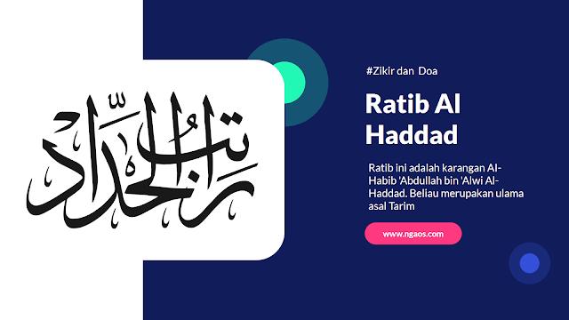 Ratib Al-Haddad, Ratib Al Haddad PDF, Download Ratib Al Haddad dan Terjemahan