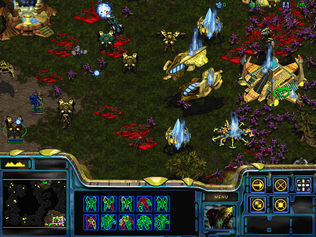 StarCraft: Brood War Mission 1: Escape from Aiur.