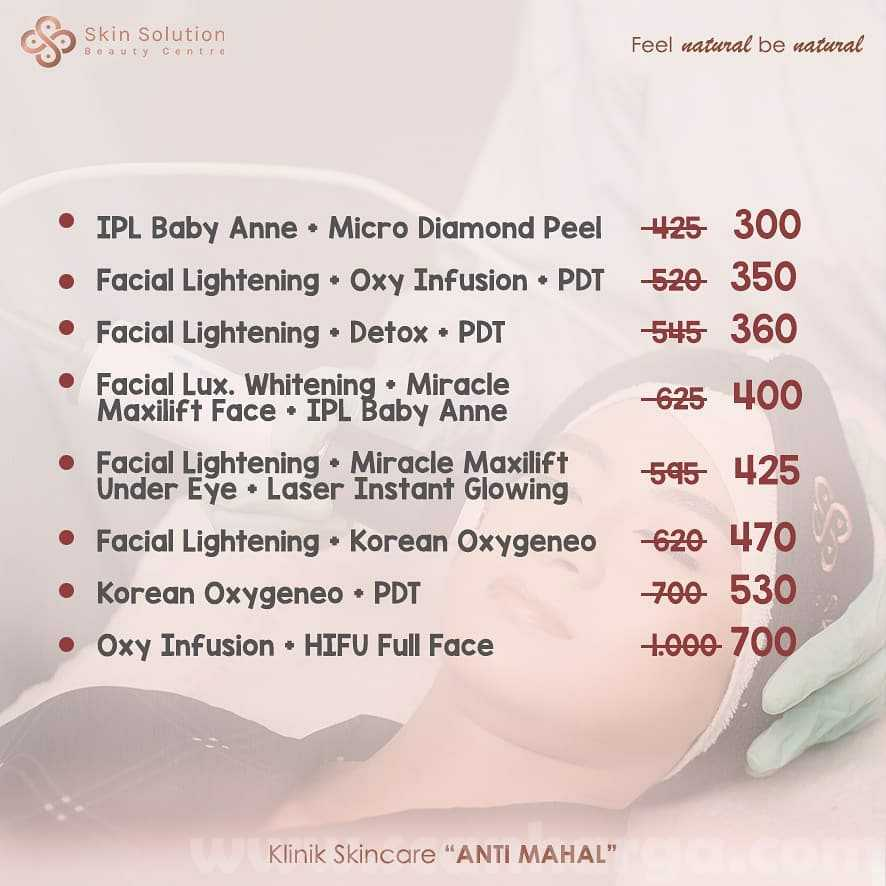 Promo Skin Solution Beauty Center: Payday Package Save up to 300K