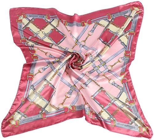 Best Pink Silky Satin Scarves