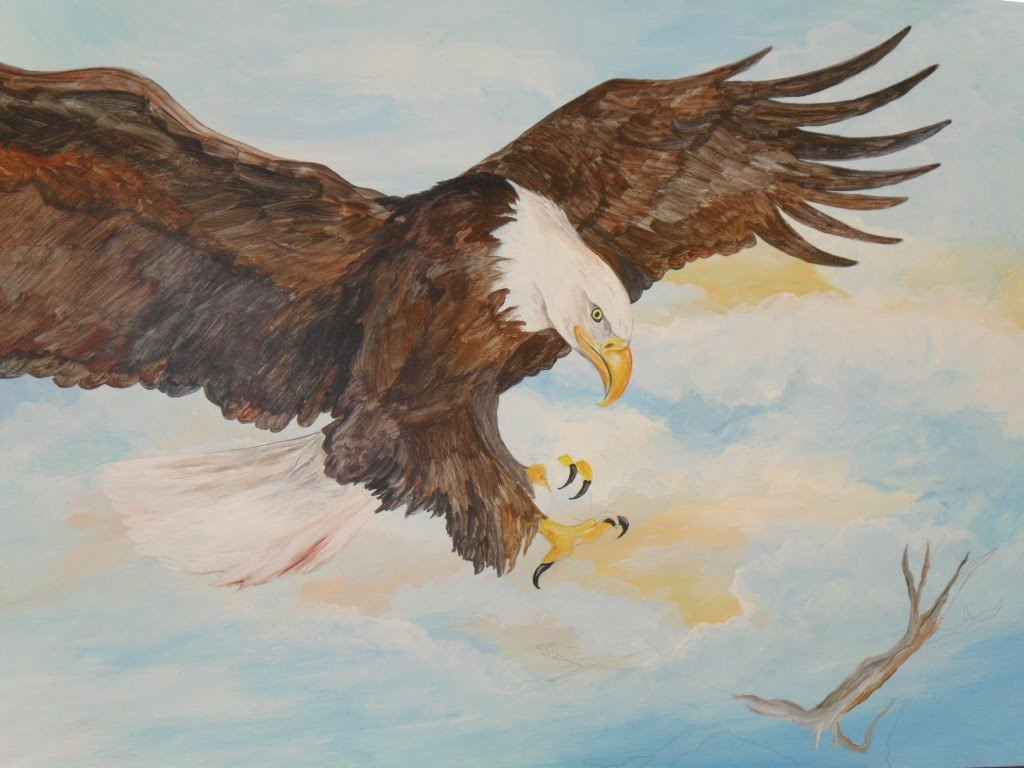 Paintings By Egretta Wells Still Working On The Eagle