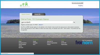 domain gratis .tk