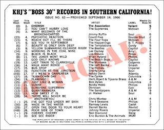 KHJ Boss 30 No. 63 - September 14, 1966