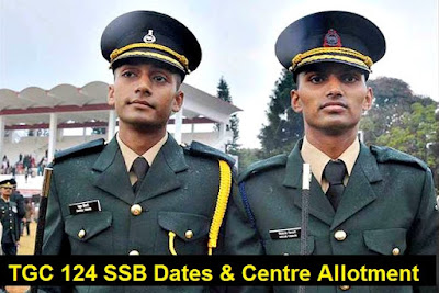 TGC 124 SSB Centre Allotment, TGC 124 SSB Dates