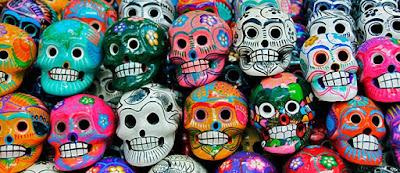 Meksykańskie czaszki na święto zmarłych