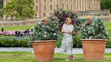 Plantas e  instalaciones florales en Chatsworth Flower Show 2019