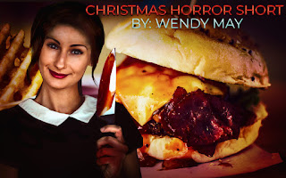 Deranged woman holding a knife, Horror Short Story, Hamburger